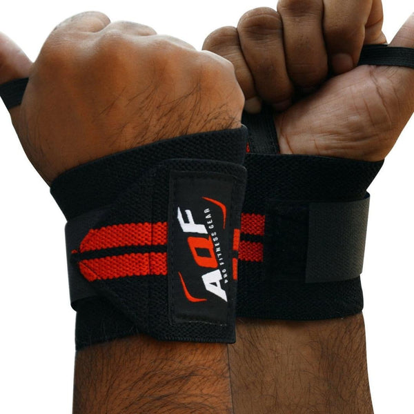 AQF Weightlifting Wrist Wraps Bandage| Gym Supplements & Accessories | GYM SUPPLEMENTS U.S