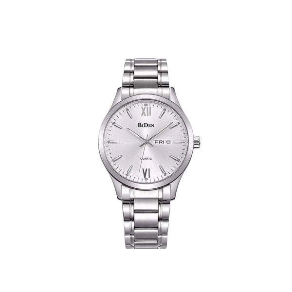 BIDEN CLASSIC BUSINESS CASUAL WATCH - SILVER COLOR | GYMSUPPLEMENTSUS.COM