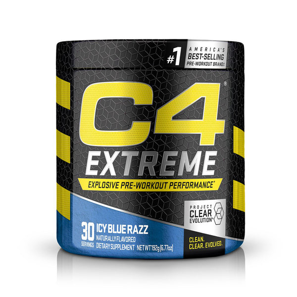 C4 EXTREME 30 SERVINGS | ICY BLUE RAZZ FLAVOR | GYM SUPPLEMENTS U.S
