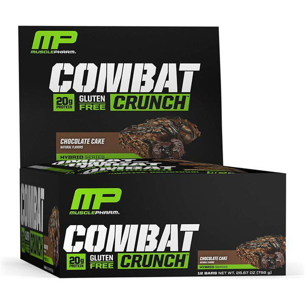 MUSCLE PHARM - COMBAT PROTEIN BAR | CHOCOLATE CAKE FLAVOR | GYM SUPPLEMENTS U.S