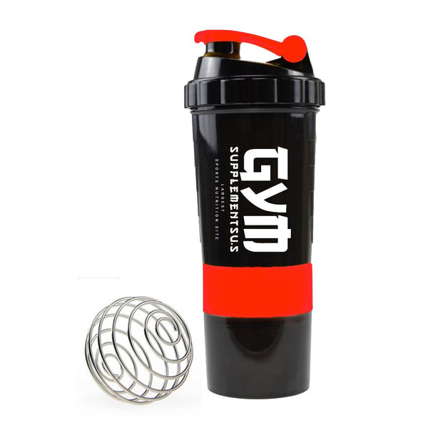 GSUS SHAKE CUP | BLACK & RED COLOR | GYM SUPPLEMENTS U.S