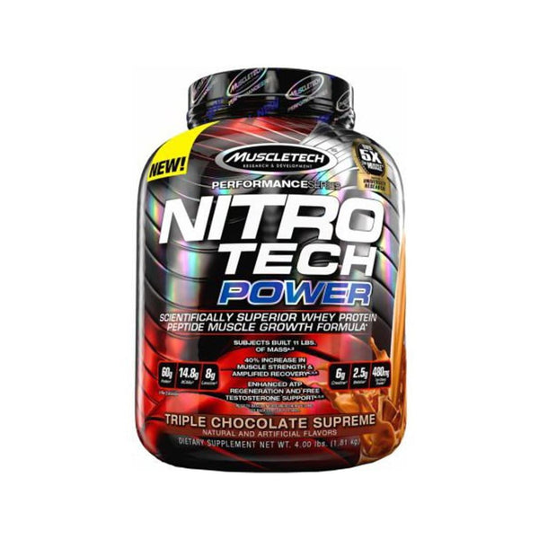 NITRO-TECH POWER 4LBS | TRIPLE CHOCOLATE SUPREME | GYM SUPPLEMENTS U.S