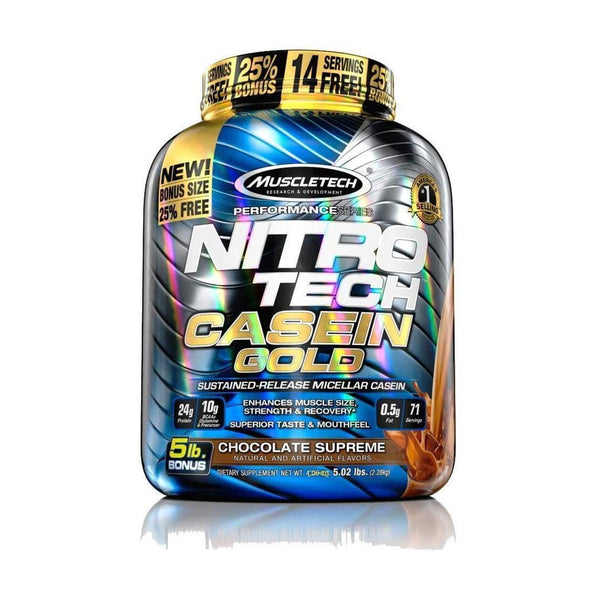 NITRO-TECH CASEIN GOLD - GYM SUPPLEMENTS U.S