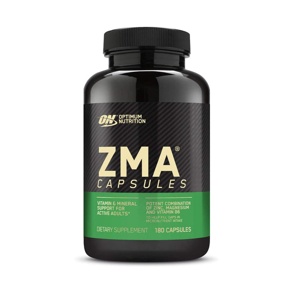 OPTIMUM NUTRITION ZMA | 180 CAPSULES | GYM SUPPLEMENTS U.S