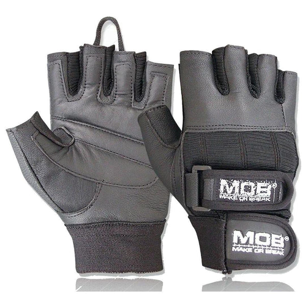 PADDED LEATHER LIFTING GLOVES - DOUBLE STRAP - GYM SUPPLEMENTS U.S