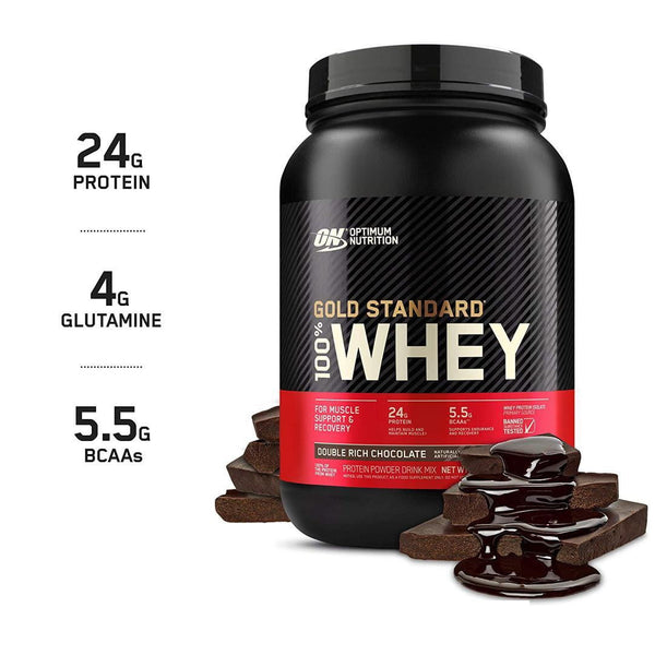 2LBS GOLD STANDARD 100% WHEY PROTEIN | DOUBLE RICH CHOCOLATE FLAVOR | GYMSUPPLEMENTSUS.COM