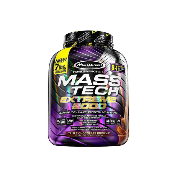 MASS TECH - EXTREME 2000 | TRIPLE CHOCOLATE BROWNIE | GYM SUPPLEMENTS U.S