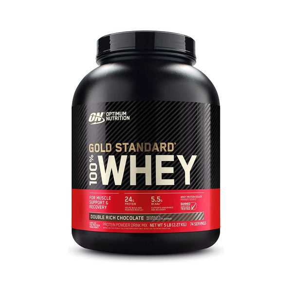 Optimum nutrition | 5 lbs double rich chocolate flavor | gym supplements u.s