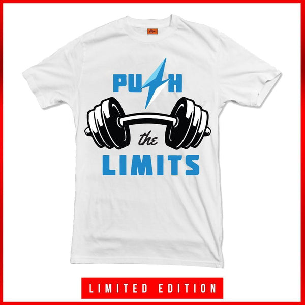 PUSH THE LIMITS | T-SHIRT | CLOTHING | BODYBUILDING T-SHIRT | GYMSUPPLEMENTSUS.COM | GYM SUPPLEMENTS U.S