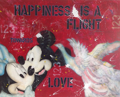 Happiness is a flight towards love