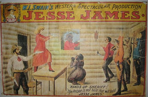 "oude poster "" Jesse James"""