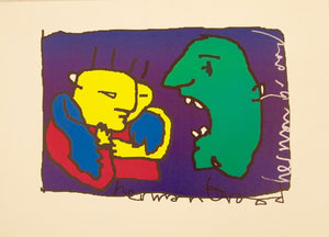 "Herman Brood  ""Paint Brush"" tekening (los blad)"