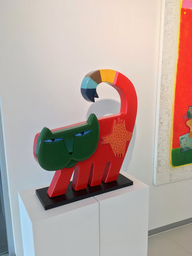 Frank Slabbinck, Sculptuur, Red cat