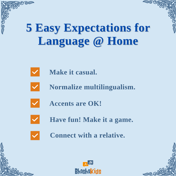 5 Easy Expectations for Language Learning at Home