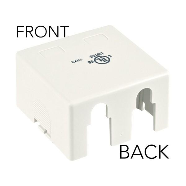Surface Mount 2-Port White