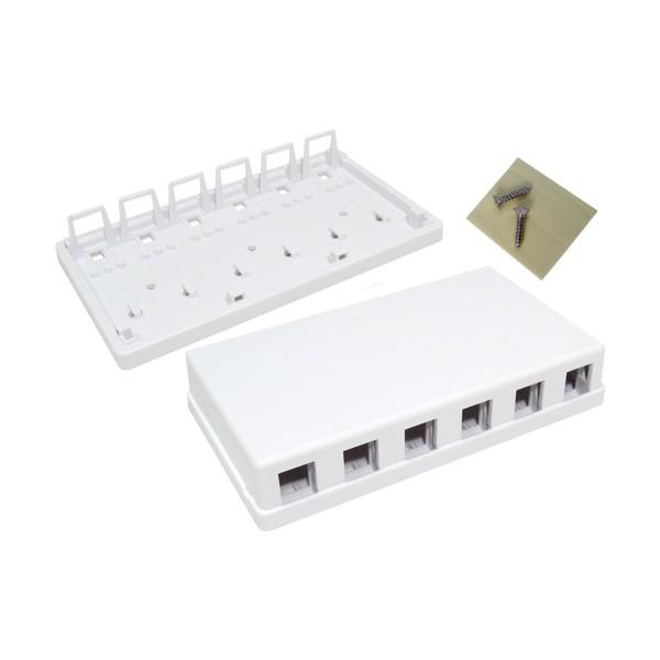 Surface Mount 6-Port White