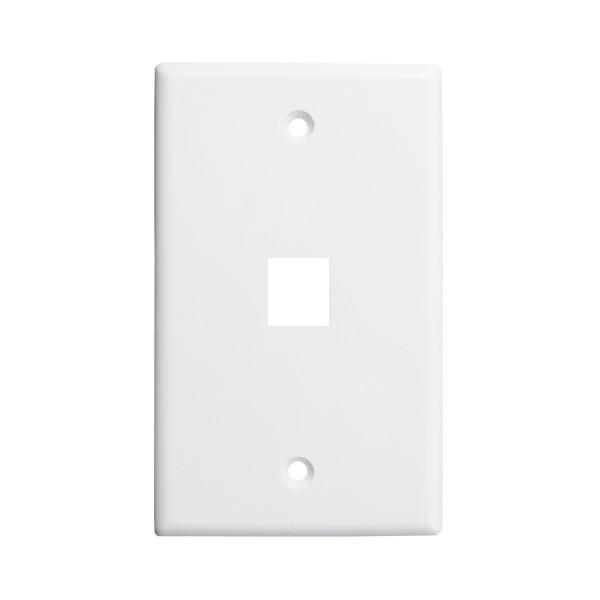 Keystone Wall Plate 1-Port White