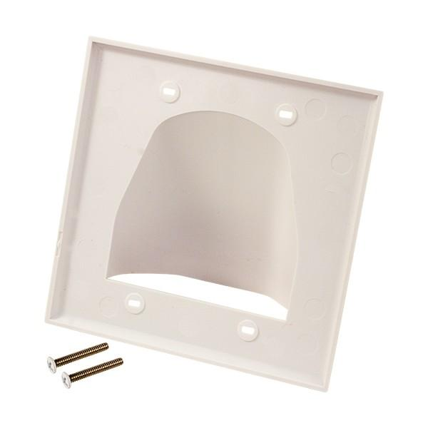 Feedthrough Wall Plate Double Gang White