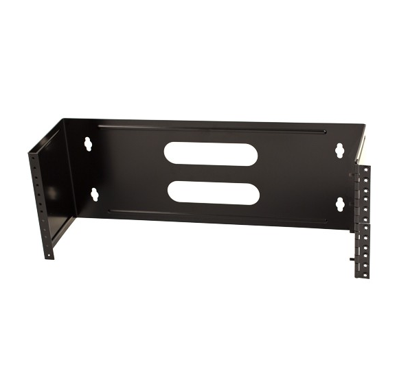 "4U Hinged Wall Mount Bracket 19"" Black"