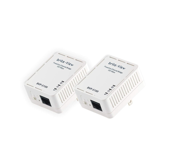 Brite-View LinkE Mini 500 Mbps Powerline Ethernet Adapter Kit
