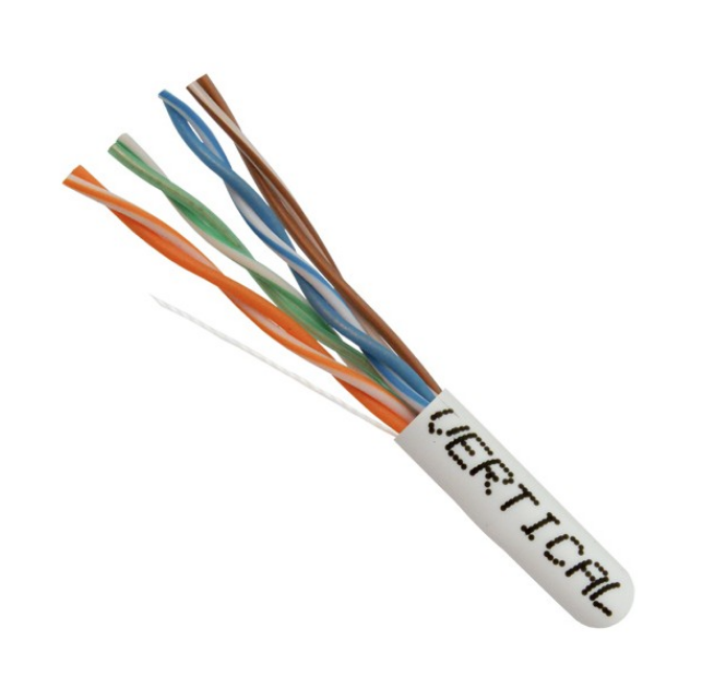Cat5E 24AWG UTP 8C Solid Bare Copper 350MHz Riser Rated PVC Jacket With FT4-CMR 1000ft Pull Box