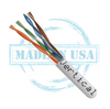Cat5E CMP FT6 24AWG UTP 4 Pair Solid Bare Copper 350MHz 1000ft Pull Box Blue