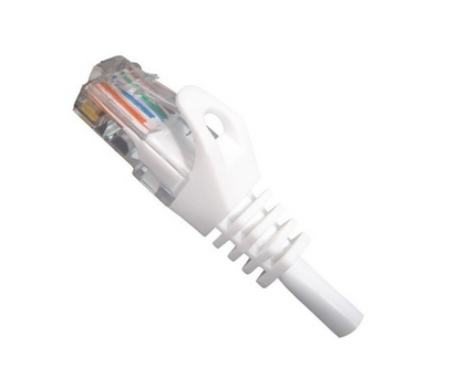 Cat5e UTP UL 24AWG Ethernet Network Cable - White - Vertical Cable
