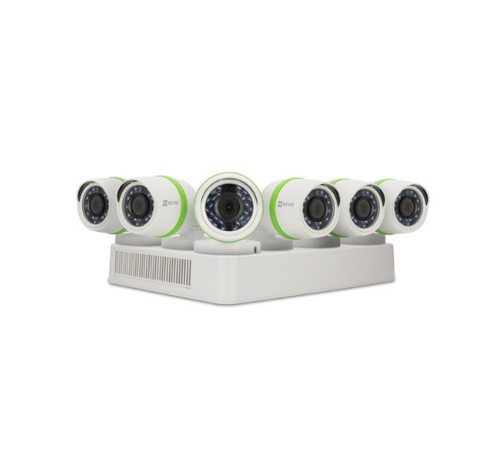 Ezviz Everyday 8-Channel 1080p DVR With 2TB HDD And 6 1080p Outdoor Bullet Cameras