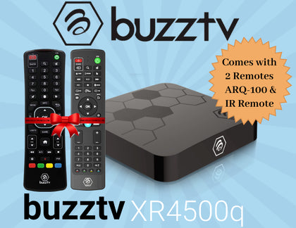 BuzzTV XR 4500 Q  ULTRA HD IPTV BOX With Bonus ARQ 100 Remote Control