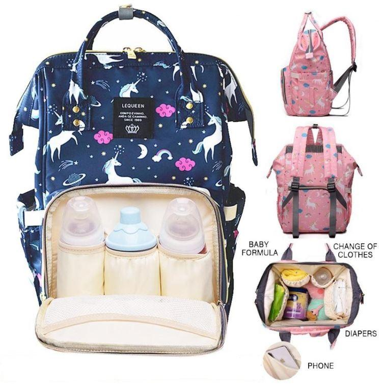 Mummy Maternity Changing Bag 2pcs Baby Nappy Diaper Wipe Clean Lightweight