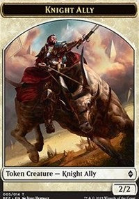 Knight Ally Token [Battle for Zendikar Tokens] | Gamerz Cafe