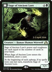 Sage of Ancient Lore [Shadows over Innistrad Promos] | Gamerz Cafe