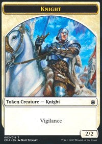 Knight Token (002) [Commander Anthology Tokens] | Gamerz Cafe