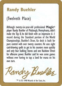 1998 Randy Buehler Biography Card [World Championship Decks] | Gamerz Cafe