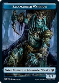 Salamander Warrior // The Monarch Double-sided Token [Commander Legends] | Gamerz Cafe