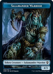 Salamander Warrior // Zombie Double-sided Token [Commander Legends] | Gamerz Cafe