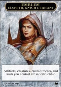 Emblem - Elspeth, Knight-Errant [Modern Masters Tokens] | Gamerz Cafe