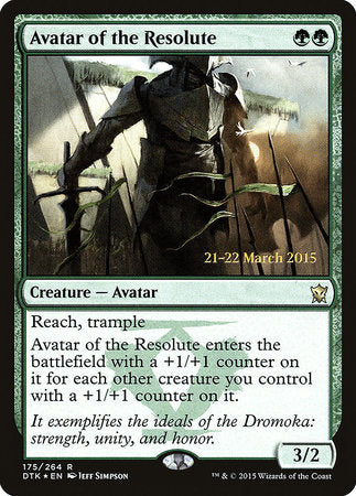 Avatar of the Resolute [Dragons of Tarkir Promos] | Gamerz Cafe