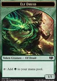 Elf Druid // Beast (4/4) Double-sided Token [Commander 2014 Tokens] | Gamerz Cafe