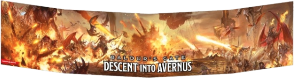 Dungeons & Dragons - Decent into Avernus DM Screen | Gamerz Cafe