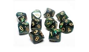 Chessex Scarab Jade/Gold - Polyhedral 7-Die Set | Gamerz Cafe