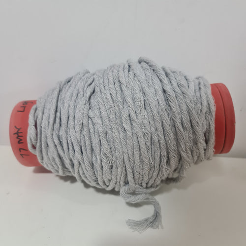 IMPERFECT LIGHT GREY MACRAMÉ COTTON LEFTOVER  77 METRES