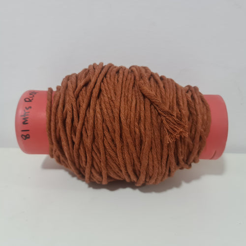RUST LUXE MACRAMÉ COTTON LEFTOVER 81 METRES