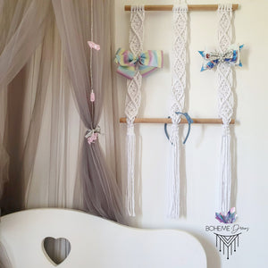 BOW & ACCESSORY HOLDER MACRAMÉ