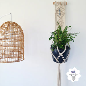 DOUBLE DIAMOND MACRAME PLANT HANGER