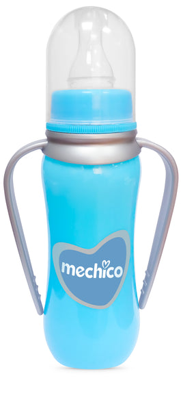 Mechico Colored Baby Bottle with Handle 250ml