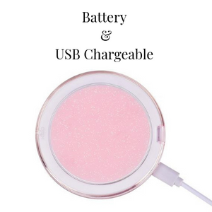 Mirrored Glow Mini - Compact LED Beauty Mirror