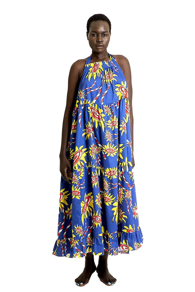Mira Mikati Flower Print Tie Shoulder Dress - That Sunny Spot