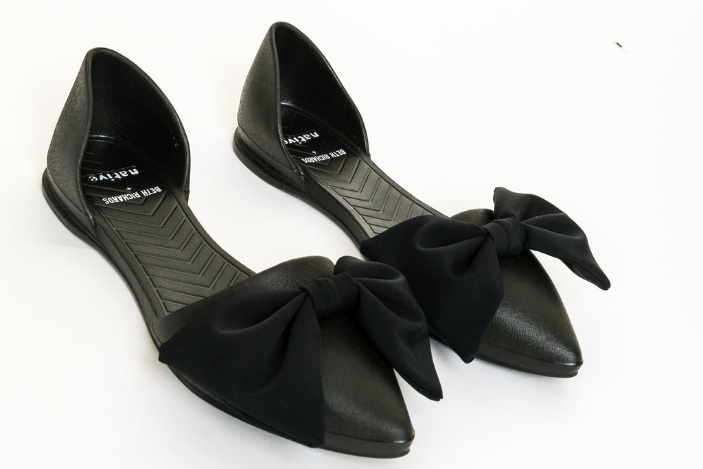 Beth Richards Eva D'orsay Flat with Fabric Bow - That Sunny Spot