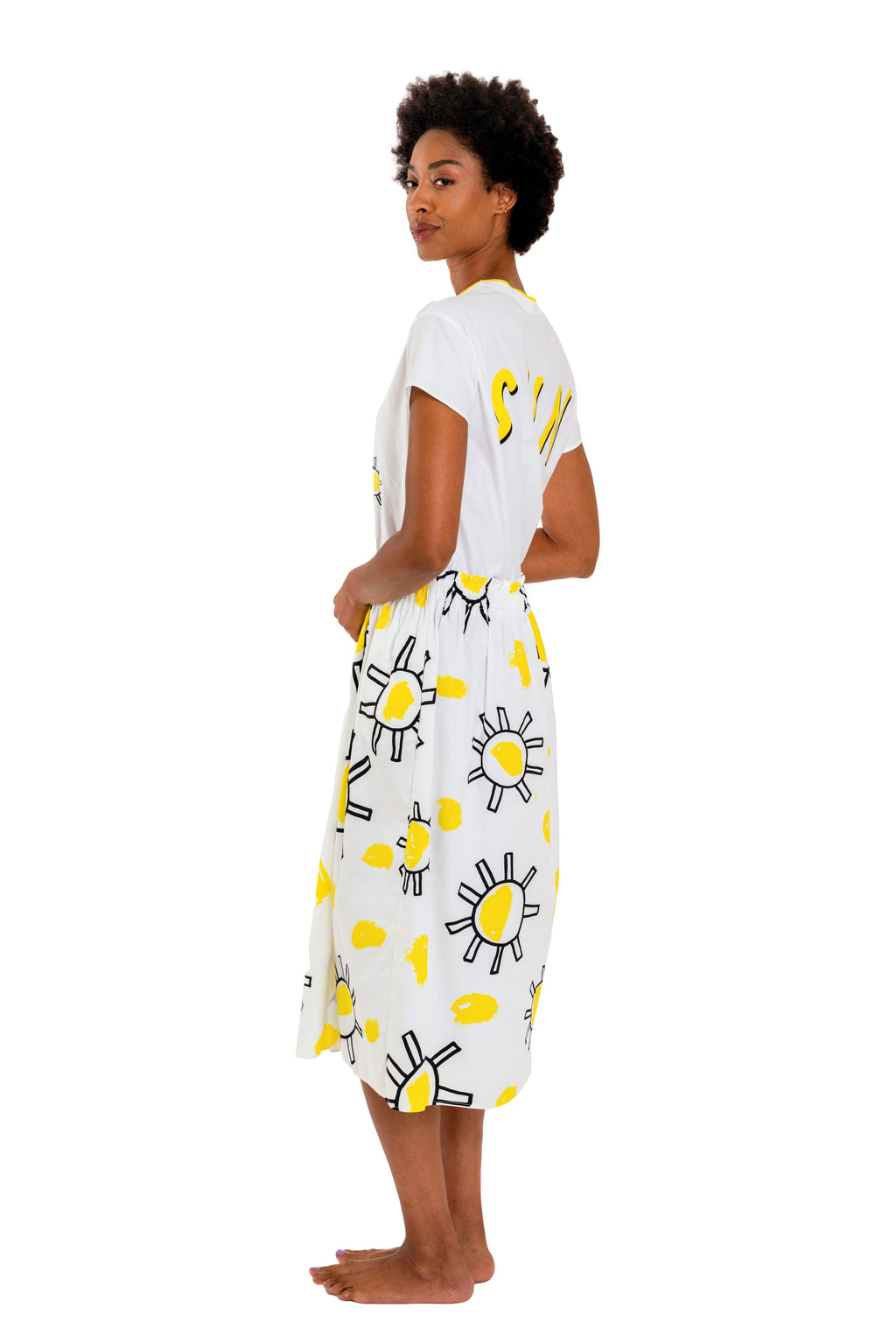 Mira Mikati Here Comes The Sun Shirt Dress - That Sunny Spot